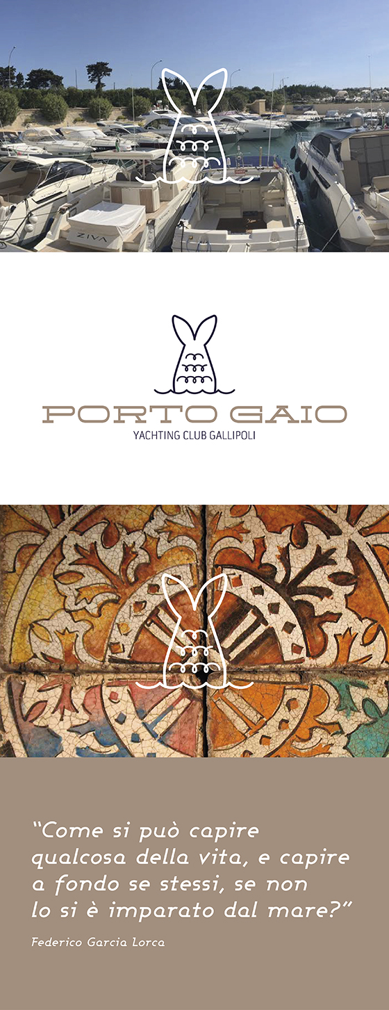 Porto Gaio logo marchio graphic design artwork by porto gaio rumorsweb rumors mare sea Yachting Club Gallipoli